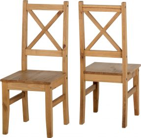 Earl Chair in Pine set of 2