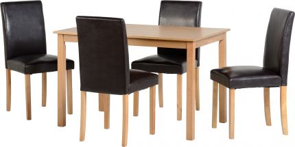 Bachelor Dining Set in Ash Veneer & Brown