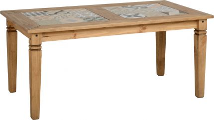 Earl Tile Top Dining Table in Pine