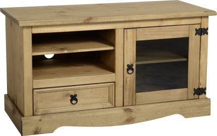 Darwin Entertainment Unit in Pine & Glass