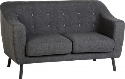 Aviator 2 Seater Sofa in Dark Grey Fabric