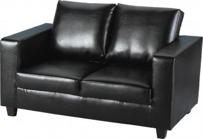 Corsair Two Seater Sofa-in-a-Box in Black