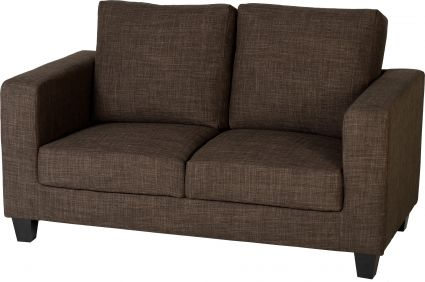 Corsair Two Seater Sofa-in-a-Box in Dark Brown Fabric