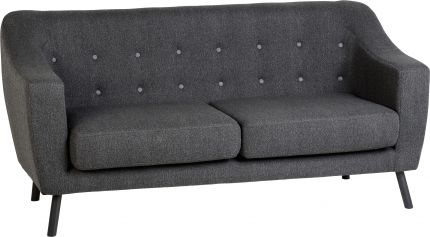 Aviator 3 Seater Sofa in Dark Grey Fabric
