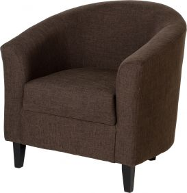 Corsair Tub Chair in Dark Brown Fabric