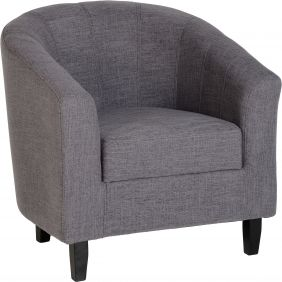 Corsair Tub Chair in Grey Fabric