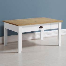 Louis Coffee Table in White & Oak