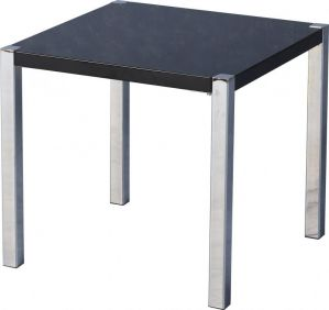 Havana Lamp Table in Black Gloss & Chrome