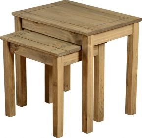 Majesty Nest Of 2 Tables in Natural Wax