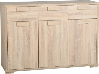 Camberwell 3 Door 3 Drawer Sideboard in Sonoma Oak Veneer