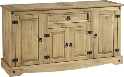 Darwin 4 Door 1 Drawer Sideboard in Pine