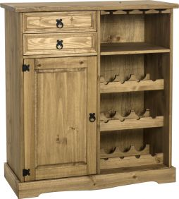 Darwin Sideboard & Wine Rack Unit in Pine
