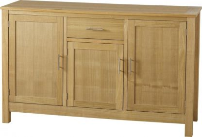 Tub 3 Door 1 Drawer Sideboard in Natural Oak Veneer