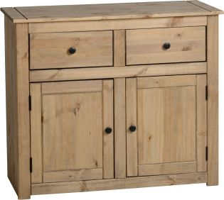 Majesty 2 Door 2 Drawer Sideboard in Natural Wax
