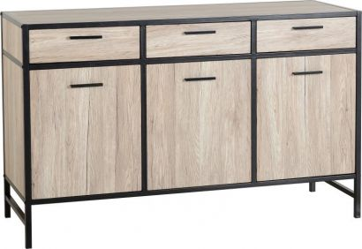 Chandler Sideboard in Oak Effect Veneer Black