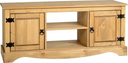 Darwin 2 Door 1 Shelf Flat Screen TV Unit in Pine