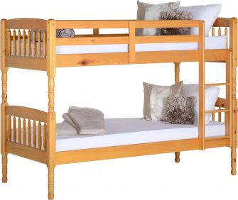Athena Single Bunk Bed in Antique Pine