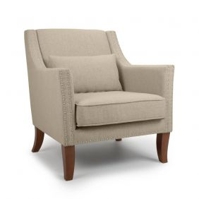Violet French Stonewash Effect Natural Armchair