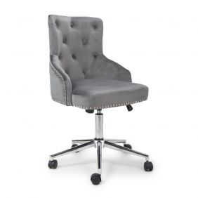 Javier Brushed Velvet Grey Office Chair