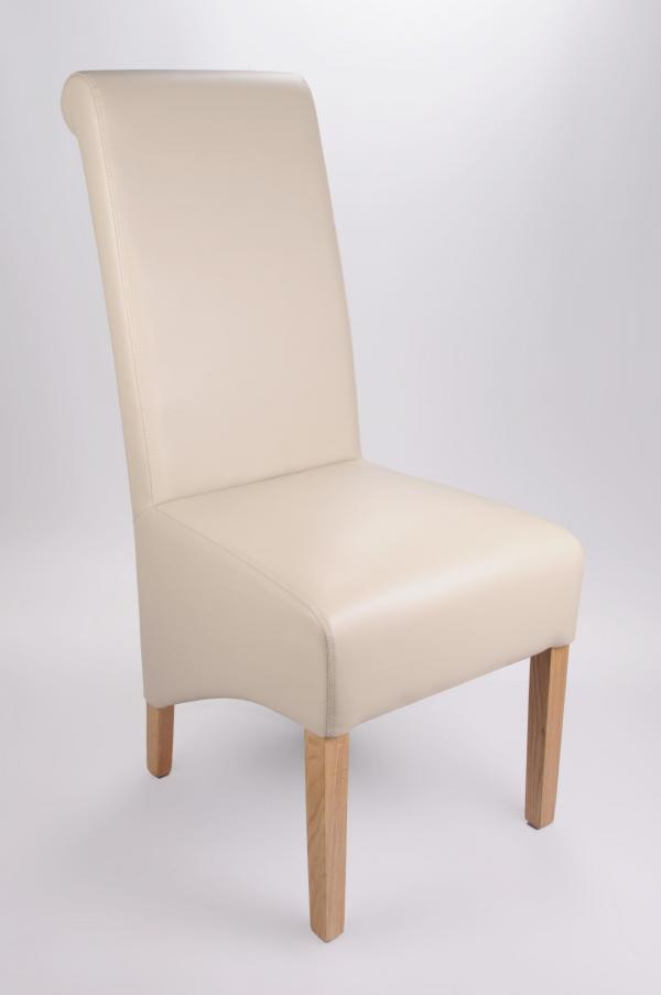 Krista Madras Ivory Leather Chair set of 2